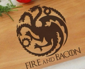 Deska ~ Fire and Bacon - Prezent